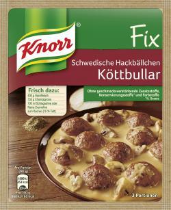 Knorr Fix Schwedische Hackbällchen Köttbullar  (49 g) - 4000400121639