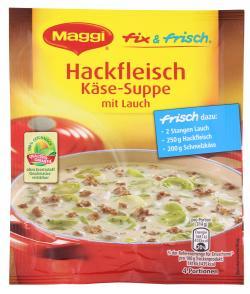 Maggi fix & frisch Hackfleisch K�se-Suppe mit Lauch  (50 g) - 7613032627768