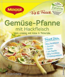 Maggi fix & frisch Gemüse-Pfanne mit Hackfleisch  (37 g) - 7613032627324