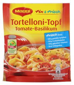 Maggi fix & frisch Tortellini-Topf Tomate-Basilikum  (40 g) - 7613033309588