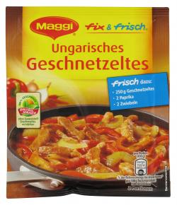 Maggi fix & frisch Ungarisches Geschnetzeltes - MHD 31.01.2016  (44 g) - 7613035419070