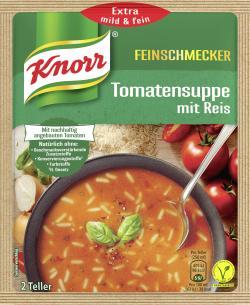 Knorr Feinschmecker Tomaten Suppe mit Reis  - 8712100401879