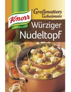 Knorr Gro�mutters Geheimnis W�rziger Nudeltopf mit zweierlei Kl��chen  - 8712566427147