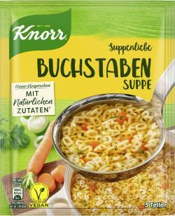 Knorr Suppenliebe Buchstaben Suppe  - 8712566332090