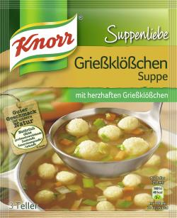 Knorr Suppenliebe Grießklößchen Suppe  - 8712566410293