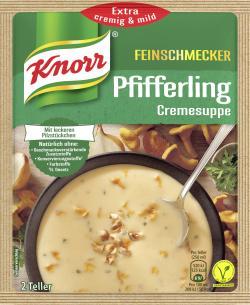 Knorr Feinschmecker Pfifferling Cremesuppe  - 8712566404995