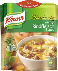 Knorr Feinschmecker W�rzige Rindfleisch Suppe  - 8712100405204