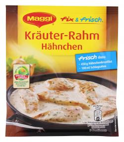 Maggi fix & frisch Kräuter-Rahm Hähnchen  (40 g) - 7613033950513