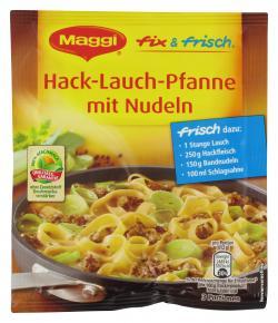 Maggi fix & frisch Hack-Lauch-Pfanne mit Nudeln  (50 g) - 7613033950537