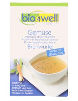 Bio4well Bio Gemüse Brühwürfel hefefrei 1,24 EUR/100 g 1031055