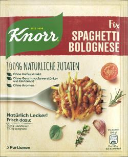 Knorr Nat�rlich Lecker! Spaghetti Bolognese  (41 g) - 8712100795497