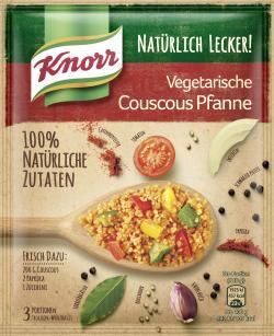 Knorr Natürlich lecker! Vegetarische Couscous Pfanne  (64 g) - 8712100844720