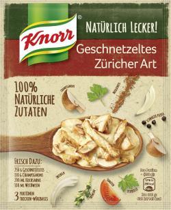 Knorr Natürlich lecker! Geschnetzeltes Züricher Art  (32 g) - 8710908920523