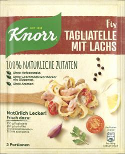 Knorr Natürlich lecker! Tagliatelle mit Lachs  (39 g) - 8710908971259