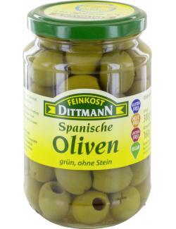 Feinkost Dittmann Grüne Oliven ohne Stein  (160 g) - 4002239401302