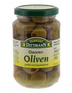 Feinkost Dittmann Gr�ne Queens Oliven gef�llt mit Paprikapaste  (200 g) - 4002239402309