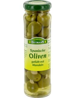 Feinkost Dittmann Spanische grüne Oliven gefüllt mit Mandeln  (85 g) - 4002239446006