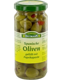 Feinkost Dittmann Spanische gr�ne Oliven gef�llt mit Paprikapaste  (135 g) - 4002239494007
