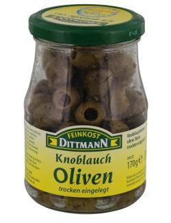 Feinkost Dittmann Knoblauch-Oliven trocken eingelegt  (170 g) - 4002239414906