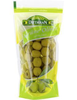 Feinkost Dittmann Gr�ne Oliven ohne Stein  (125 g) - 4002239814003