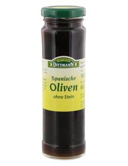 Feinkost Dittmann Spanische geschw�rzte Oliven ohne Stein  (60 g) - 4002239418300