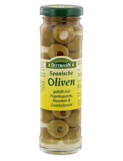 Feinkost Dittmann Spanische grüne Oliven gefüllt  (85 g) - 4002239481007