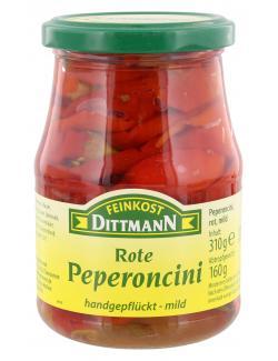 Feinkost Dittmann Rote Peperoncini mild  (160 g) - 4002239645300