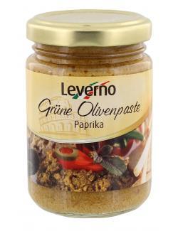 Leverno Grüne Olivenpaste Paprika  (156 ml) - 4013200333959