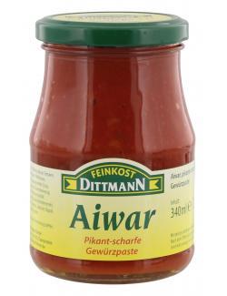Feinkost Dittmann Aiwar Gewürzpaste pikant-scharf  (340 ml) - 4002239634007