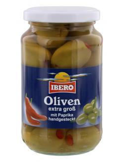 Ibero Gr�ne Oliven mit Paprika  (200 g) - 4013200555900