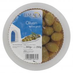 Liakada Gr�ne Oliven extra gro�  (250 g) - 4013200103132