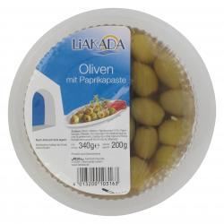 Liakada Gr�ne Oliven mit Paprikapaste  (200 g) - 4013200103163