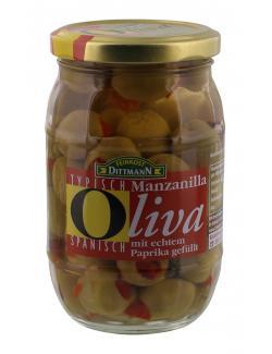 Feinkost Dittmann Manzanilla Oliven gr�n gef�llt mit Paprika  (200 g) - 4002239424004