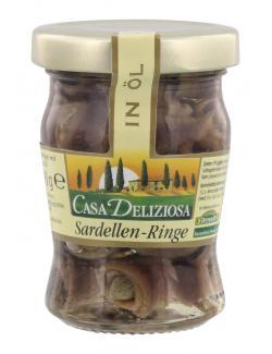 Casa Deliziosa Sardellen Ringe mit Kapern in Öl  (90 g) - 4002239270106