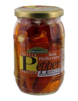 Feinkost Dittmann Rote Pfefferonen mit Schafskäsecreme  (310 g) - 4002239435604