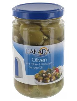 Liakada Grüne Oliven gefüllt mit Käse & Kräutern  (270 g) - 4013200105884