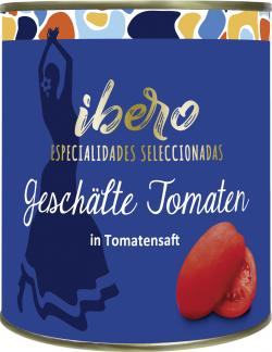 Ibero Tomaten in Tomatensaft geschält  (480 g) - 4013200552107