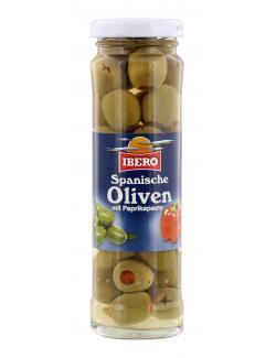 Ibero Spanische gr�ne Oliven gef�llt mit Paprikapaste  (85 g) - 4013200555351