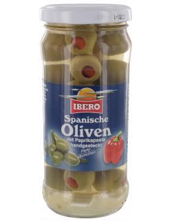 Ibero Spanische grüne Oliven Partybäumchen mit Paprika  (90 g) - 4013200555252