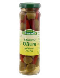 Feinkost Dittmann Spanische gr�ne Oliven gef�llt mit Piri-Piri  (90 g) - 4002239446600