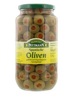 Feinkost Dittmann Spanische grüne Oliven gefüllt mit Paprikapaste  (575 g) - 4002239400008