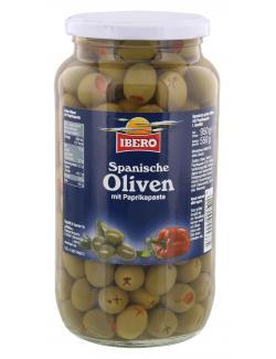 Ibero Spanische gr�ne Oliven mit Paprikapaste  (550 g) - 4013200555375