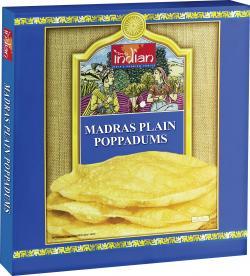 Truly indian Madras Plain Poppadums  (112 g) - 8901552015530