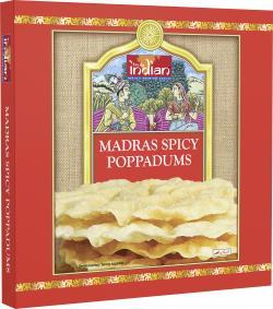 Truly indian Madras Spicy Poppadums  (112 g) - 8901552015547
