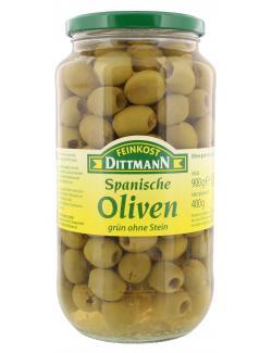 Feinkost Dittmann Spanische grüne Oliven ohne Stein  (400 g) - 4002239401005