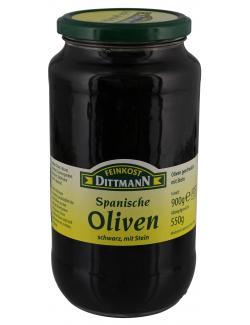 Feinkost Dittmann Spanische geschw�rzte Oliven mit Stein  (550 g) - 4002239404303