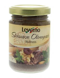Leverno Schwarze Olivenpaste Walnuss  (140 g) - 4013200333942