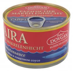 Dovgan Pazifischer Makrelenhecht in Tomatensauce  (250 g) - 4032549009066