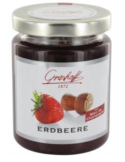 Grashoff Konfit�re extra Erdbeere mit Marc de Champagne  (250 g) - 4006375000740