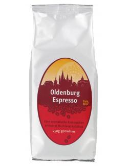 Oldenburg Espresso Arábica gemahlen  (250 g) - 4030254336804